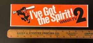 Vintage Baltimore Orioles Bumper Sticker