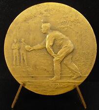 Médaille joueur de pétanque c 1930 boule bowling sport bouliste medal