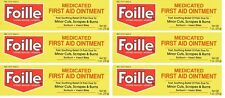 6 Pack Foille Medicated First Aid Ointment 1 ounce Each