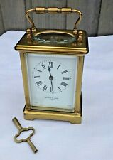 MAPPIN AND WEBB BRASS CARRIAGE CLOCK FRENCH MOVEMENT, KEY