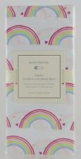 Pottery Barn Kids ~ Rainbow Crib Fitted Sheet ~ Hearts Toddler NWT