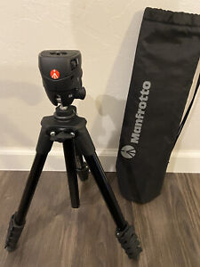 "Manfrotto 61"" MKCOMPACTACN-BK Compact Action Aluminium Tripod with Hybrid Head"