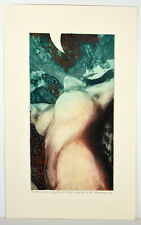 "1987 Art ""Fructus Ventris"" Etching Andreasz Szanto Ecstatic Nude Woman Body"