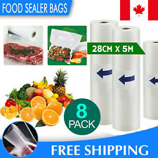 """Vacuum Sealer Bags, 2""""x11"""" Rolls 8 pack for Food Saver, Seal a Meal, Weston."""