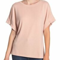 RACHEL ROY COLLECTION Pleated Dolman Sleeve Pink Knit Top Size Small