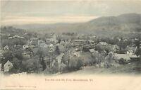 Woodstock Vermont~The Inn~Mountain Tom From Hillside~Sharp! c1906 Postcard