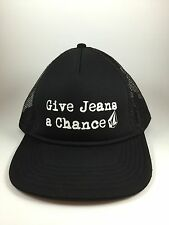 """Volcom """"Give Jeans a Chance"""" Baseball/Trucker Hat/Cap Black One Size Fits Most"""