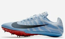 NIKE Zoom Rival S 9 Track Field Running Shoes Sprint Spikes Blue Crimson US 11