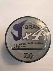 Daiwa j-braid x4 braided fishing line 500m / 546 YARDS! New 39lb White