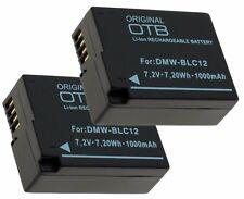 2 x Akku für Panasonic Lumix DMC-G5 / DMC-G6 / DMC-G81 / DMC-G81H - DMW-BLC12 PP