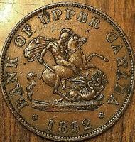 1852 UPPER CANADA DRAGONSLAYER HALF PENNY TOKEN - Medal die axis