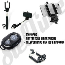 REMOTE SHUTTER TELECOMANDO MONOPOD E SUPPORTO SMARTPHONE IOS ANDROID IPHONE 6 S5