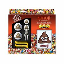 Poop Emoji Golf Accessory Set Gift for Him golfer Towel & balls & divot tool tee