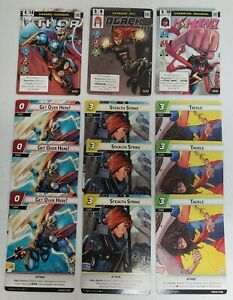 Marvel Champions LCG Full OP Kit Thor Black Widow Ms Marvel With Attack 3x Cards