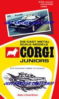 Corgi Juniors Husky Batman Batmobile 1002 Poster Advert Leaflet Shop Sign 1967