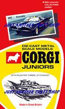 Corgi Juniors # 1002 Batmobile Batman Diecast Car Top Red Plastic Insert 1971