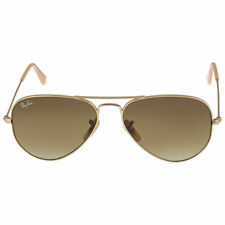 ed139f142fe84 Ray Ban RB3025 112 85 55mm Matte Gold Brown Gradient Original Aviator  Sunglasses