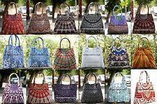 10 PC Wholesale Lot Indian Mandala Cotton Satchel Purse Tote Bag Shoulder Bags