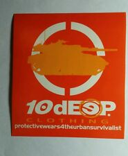 10 DEEP CLOTHING PROTECTIVE WEAR FOR THE URBAN SURVIVALIST 4x4.5 MUSIC STICKER
