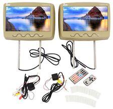 """Tview T102DVPL-TN 10.1"""" Beige/Tan Slot-Load Car DVD/USB/SD Headrest Monitors"""