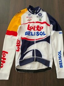 Lotto Belisol Team Issued Thermal Long Sleeve jersey S Vermarc Belgian Classics