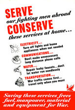 Serve Our Fighting Men Abroad - 1943 - World War II - Propaganda Poster