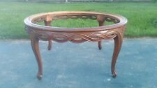 Antique Architectural Carved Wood Table Base  Neo Classical W/O Glass