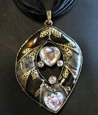 Rhinestone Enamel Bronze Fashion Necklaces & Pendants
