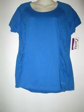 Curves Women's  Blue  Workout Athletic  Top Shirt size Large NWT