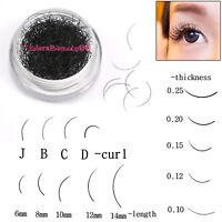 1pcsJ/B/C/D Curl Individual Black False Eyelash Extension Eye Lashes Makeup Tool