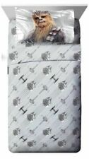 Star Wars Ep 8 Epic Poster Gray 3 Piece Twin Sheet Set with Chewbacca