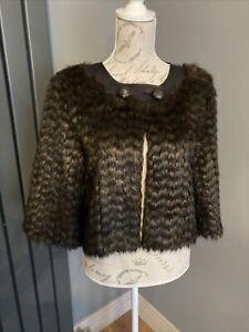 Morgan Jacket  Faux Fur  Size Т40 Excellent Condition.100% Genuine!