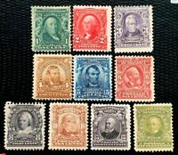 1902-03 US Stamp SC#300-39 Regular Issue Mint CV:$587