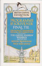 Programma / Programme Bolton Wanderers v West Ham United 28-04-1923 FA Cup Final