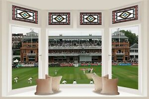 Huge 3D Bay Window 1St Ashes Test Lord'S 2005 View Wall Sticker Mural 1132