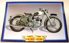 ROYAL ENFIELD 500 TWIN VINTAGE CLASSIC MOTORCYCLE BIKE 1950'S PICTURE PRINT 1951