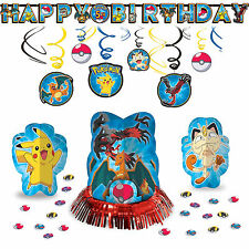 Pokemon Pikachu Classic Hanging Childrens Birthday Party Pack Decoration Kit