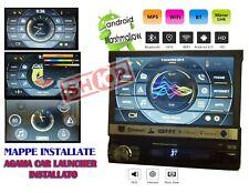 "AUTORADIO 1DIN 7"" ANDROID GPS NAVIGATORE+ MAPPE WIFI BLUETOOTH SD MOTORIZZATO"