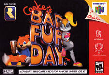 Nintendo N64 Conkers Bad Fur Day & 007 Golden Eye  Box Cover Photo Wall Posters