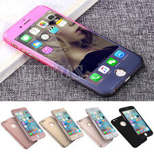 Hybrid 360° Shockproof Case Tempered Glass Cover For Apple iPhone 8 7 Plus 5s 6s
