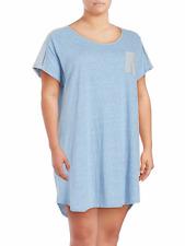 NWT Karen Neuburger Plus Size 1X Sleep Shirt Dress Nightshirt Heathered Blue