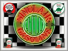 SINCLAIR GAS STATION NEON STYLE BANNER SIGN LARGE SHADOWBOX CUSTOM ART 4' X 3'