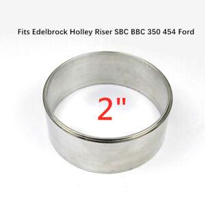 "2"" Air Cleaner Spacer Aluminum 5-1/8"" Fit Edelbrock Holley Riser SBC BBC 302 350"