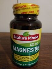 Nature Made Magnesium Citrate Softgels, 125 mg, 60 Count