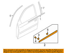 KIA OEM 10-11 Rio FRONT DOOR-Body side mldg Left 877211G600