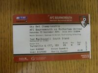 13/09/2014 Ticket: Bournemouth v Rotherham United [Red Ticket] . Thanks for view