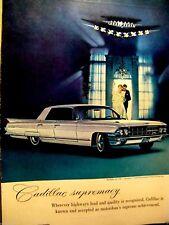 1961 Cadillac Sedan Deville Jeweled V Harry Winston-Supremacy Original Print Ad