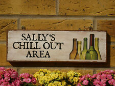 PERSONALISED OUTDOOR SIGN DRINKING SIGN YOUR OWN NAME CHILL OUT AREA DRINKS GIFT
