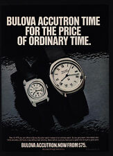 1976 BULOVA ACCUTRON Men's & Woman's Watch - Price Of Ordinary Time VINTAGE AD