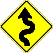 Curvy Road - 18 x 18 Warning Sign - 10 Year 3M Warranty.